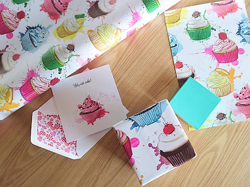 Cupcake Crazy Wrapping Paper