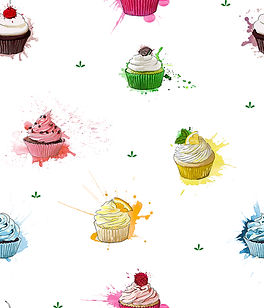Cupcake Crazy repeating pattern design