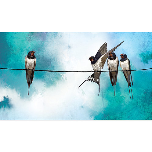 Swallows on a Wire - print