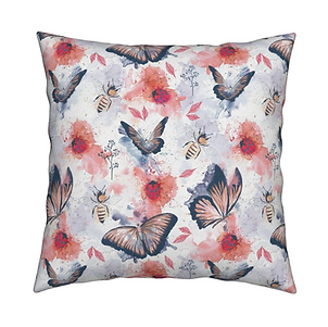 Butterflies and Bugs Cushion