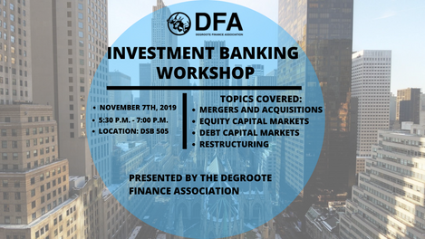 INTRO TO INVESTMENT BANKING WORKSHOP