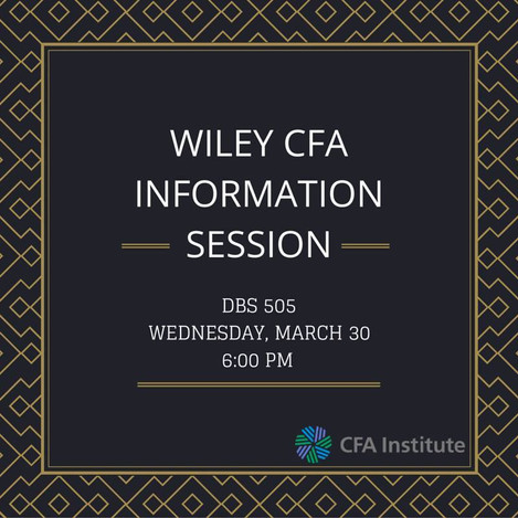 WILEY CFA INFORMATION SESSION