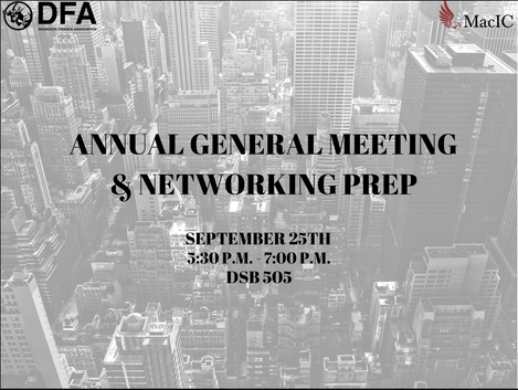 2019 ANNUAL GENERAL MEETING & NETWORKING PREP