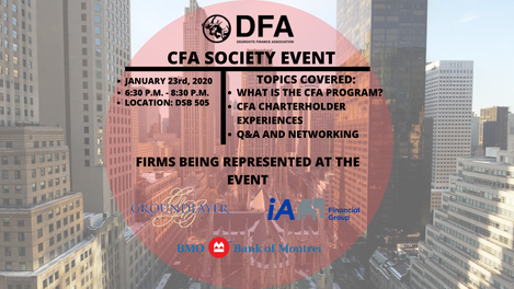 CFA Society Event