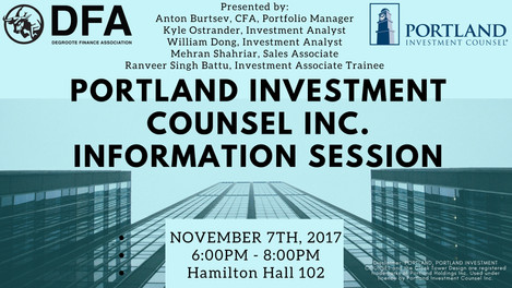 PORTLAND INVESTMENT COUNSEL INC. INFORMATION SESSION