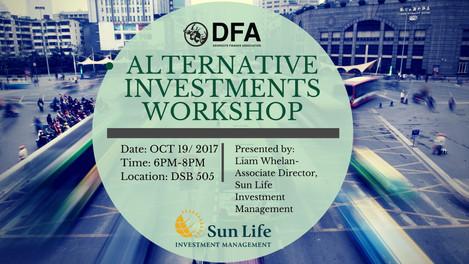 ALTERNATIVE INVESTMENTS WORKSHOP