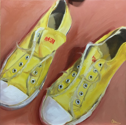 """Yellow Converse"" - Sold"