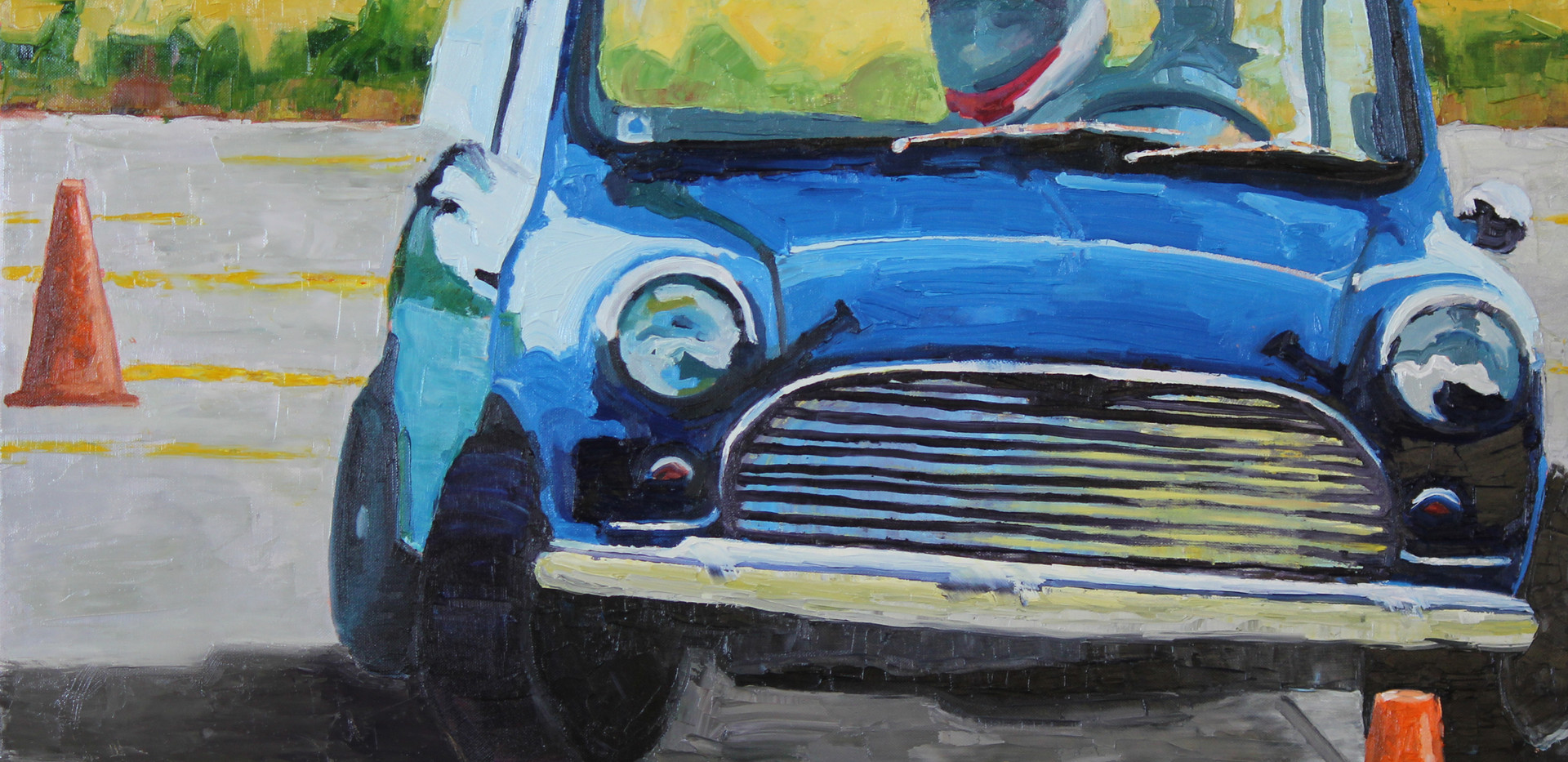 """Blue Mini Cooper"" - Sold"