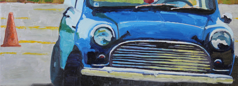 """Blue Mini Cooper"" - Sold"
