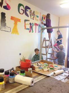 Wandmalereikurs 1. Grundschule Großenhain