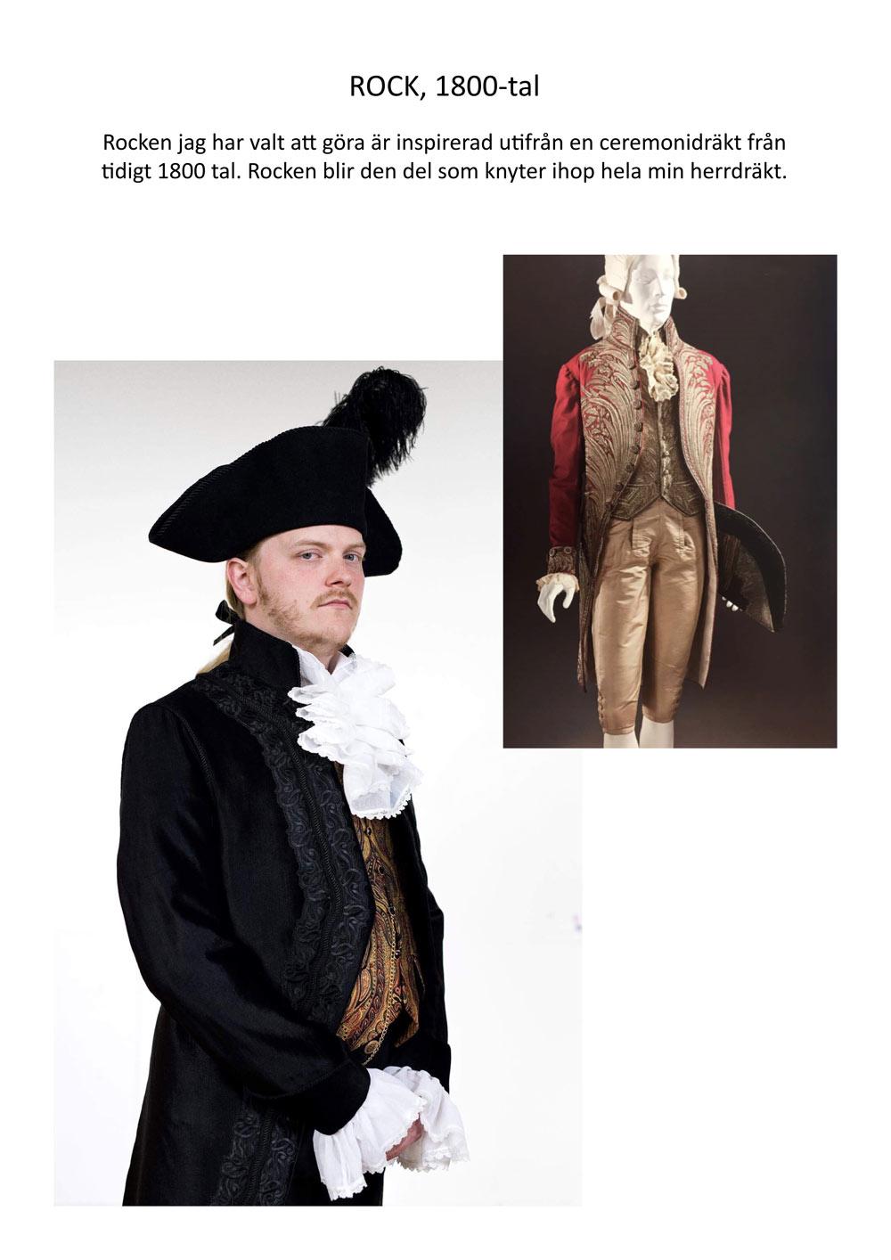 Historisk kostym 1800-tal 1 av 5