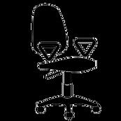 kantoor-roller-stoel-vector-illustratie_