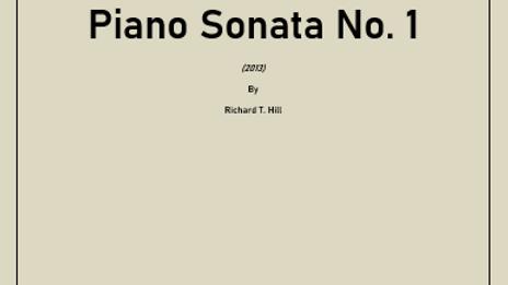 Piano Sonata No. 1 (2013)