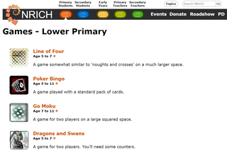 NRICH Games Lower Primary