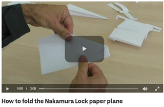How to fold the Nakamura Lock paper plan