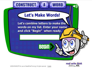 Construct a word