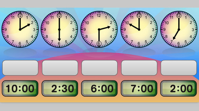 Time tools: 12-hour to the half hour