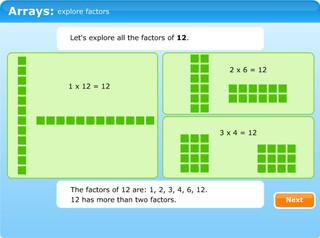 Arrays: explore factors