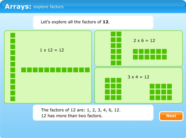 Arrays: explore factors