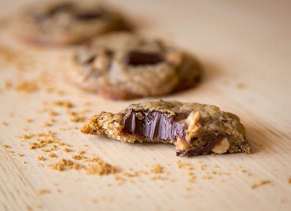Lot de 6 cookies aux noix de pécan, chunks de chocolat noir et fève tonka