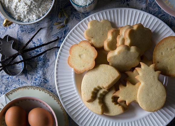Biscuits tout nus et bronzés