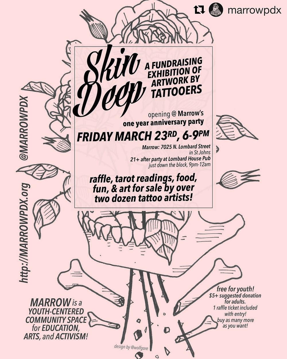 skin deep artshow flyer