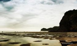 Piha low tide - Photography