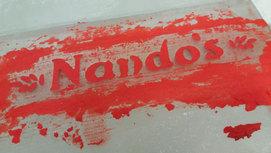 Nandos Logo Ice Sculpture