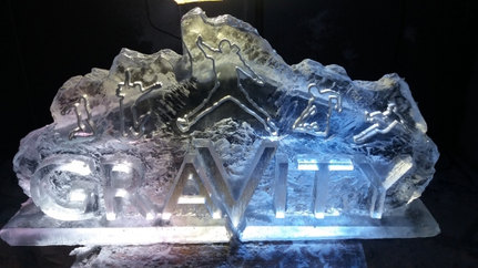 Gravity Logo Ice Sculpture