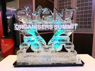 Event Organisers Summit Logo Ice Sculpture