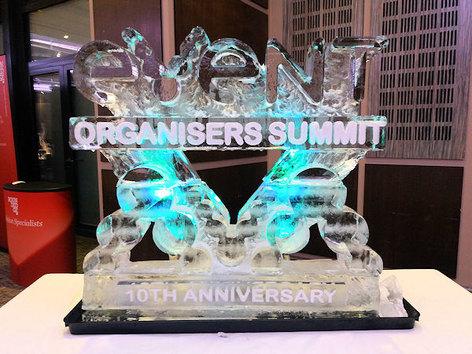 Event Organisers Summit Logo Ice Sculpture