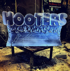 Hooters Logo Ice Sculpture
