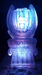 Hungry Horse Logo Ice Sculpture