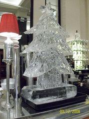 Christmas Tree Ice Sculpture Vodka luge