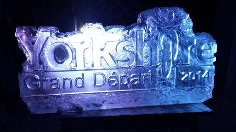Tour De Yorkshire Logo Ice Sculpture