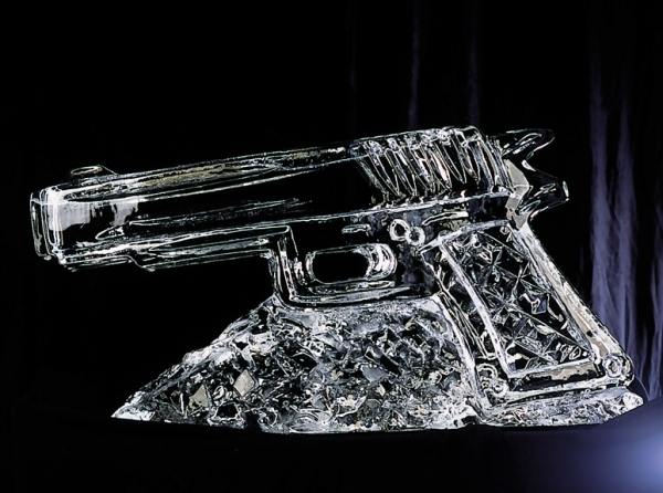 Bond Gun Vodka Ice Luge