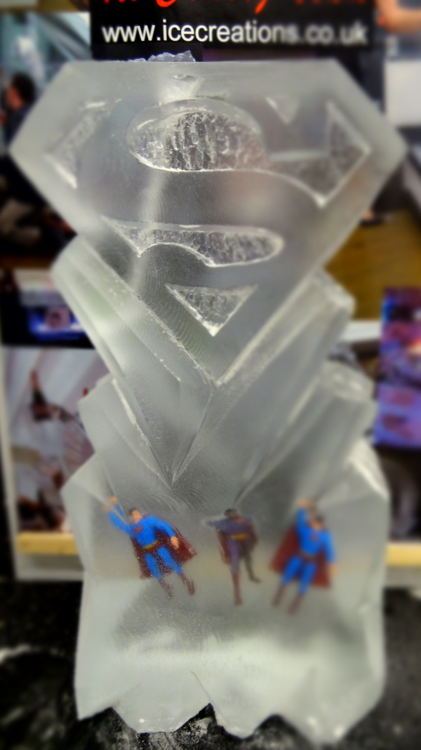 Superman Logo Vodka Ice Luge