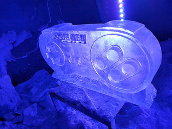 Nintendo Controller Ice Sculpture