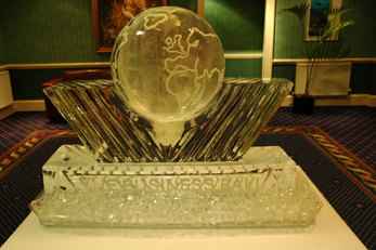 The World Corporate Logo Ice Sculpture