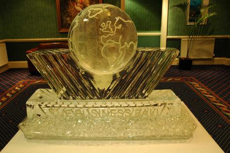 The World Corporate Logo Ice Sculpture