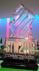 STW Edinburgh Logo Ice Sculpture