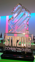 STW Edinburgh Logo Ice Sculpture