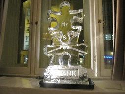 Jigsaw Wedding Ice Sculpture Luge