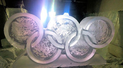 Olympic Rings Vodka Ice Luge