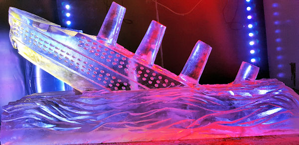 Titanic Vodka Ice Luge