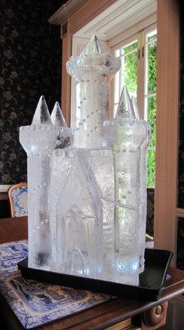 FairyTale Castle Wedding Ice Sculpture Luge