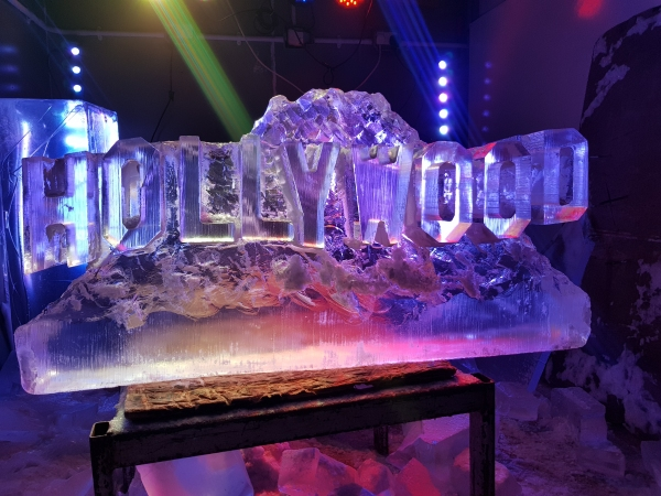 Hollywood Sign Vodka Ice Luge