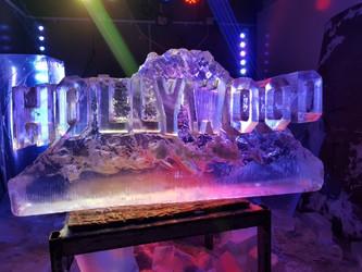 HollyWood Sign Ice Sculpture Vodka Luge