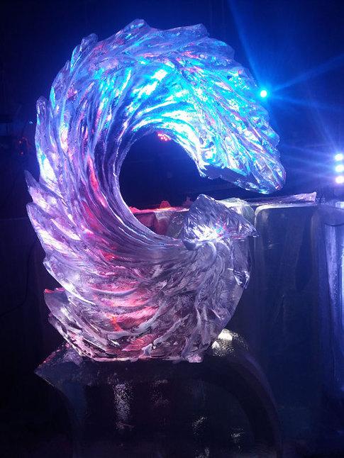 Wave Wedding Ice Sculpture Luge