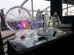 London Skyline Logo Ice Sculpture